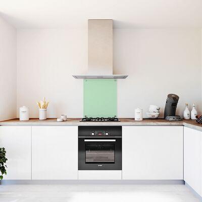 Glasplaat keuken Groen getint glas 600x700