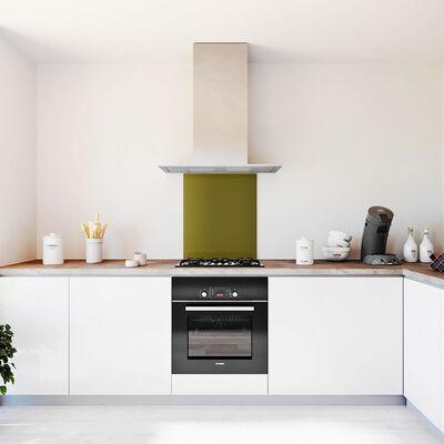 Glasplaat keuken kleur -trend-olijf-hoogglans