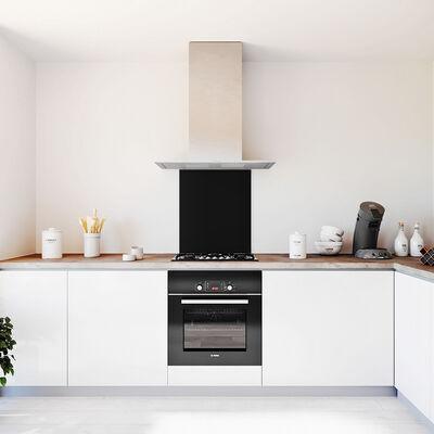 Glasplaat keuken kleur zwart-hoogglans