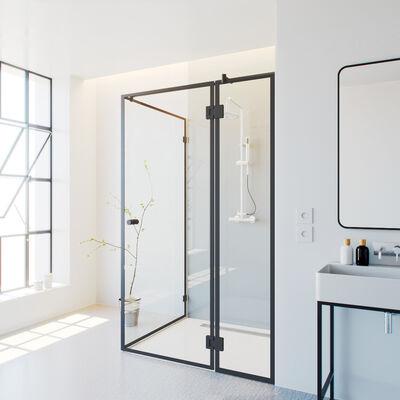 Duschkabine-industriell-mit-schwarzem-Rahmen-Madel
