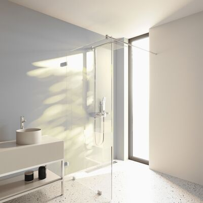Duschwand mit Wandklemmen lili
