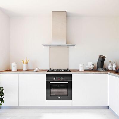Glasplaat keuken Brons getint glas 600x700