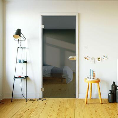 Glazen binnendeur op maat grijs getint