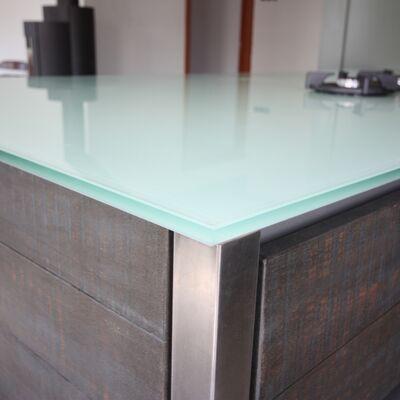 Glazen keukenwerkblad Basic Wit hoogglans