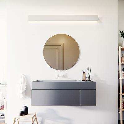 Runder Spiegel Bronze