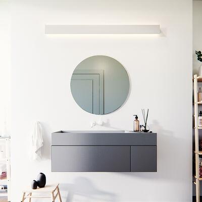 Runder Spiegel grau getönt